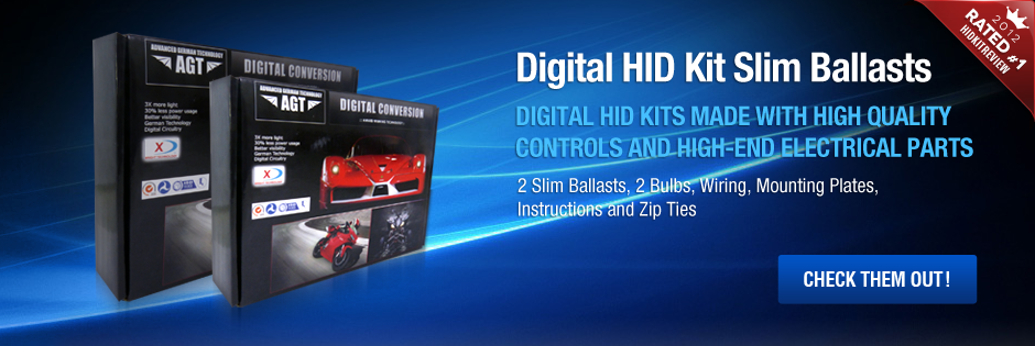 Digital HID Kit Slim Ballasts