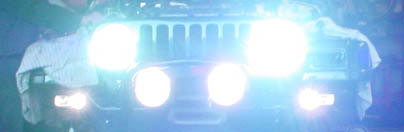 Jeep Wrangler HID lights