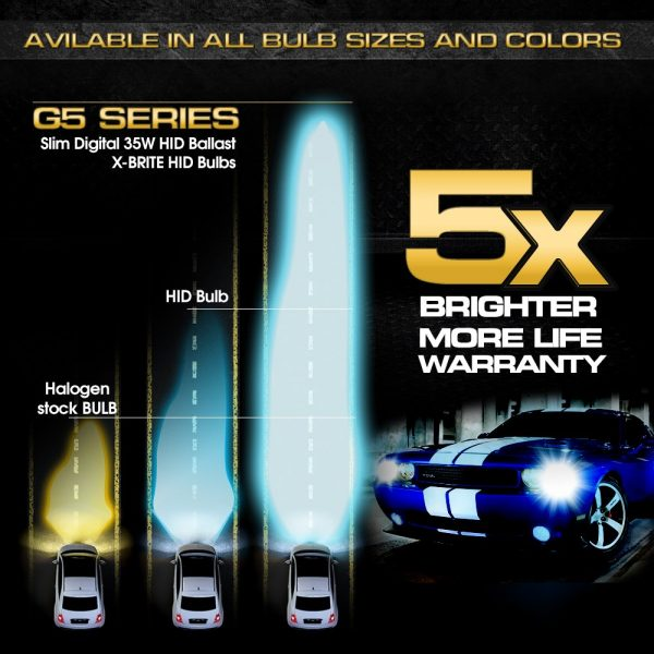 G5 Series Performance Xenon HID Conversion Kit 35W